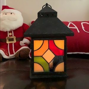 Stained Glass/Tin Lantern